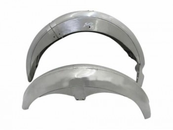 AJS FRONT AND REAR RAW STEEL MUDGUARD SET |Fit For