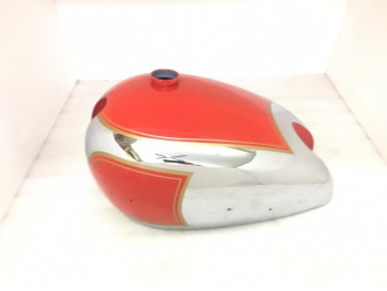 Matchless Ajs Twin G9 G12 Red Painted Chrome Petrol Tank|Fit For)