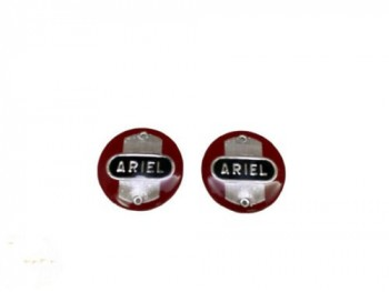 Ariel Fuel Tank Badges - Red NH, VH, FH and Square 4 models Fit For