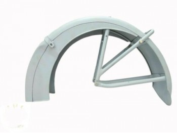 ARIEL SQUARE FOUR 1938-1948 VALANCE REAR MUDGUARD RAW STEEL + STAYS |Fit For