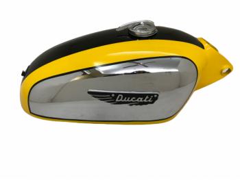 Ducati 350Cc Scrambler Chrome Yellow & Black Petrol Tank + Cap & Badges(Fit For)