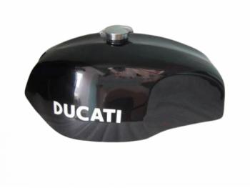 DUCATI 750 GT 1972 BLACK PAINTED ALUMINIUM FUEL PETROL TANK + MONZA CAP |Fit For