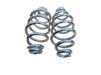 """5 X PAIR HARLEY BOBBER CHOPPER BSA 5"""" SOLO SEAT SPRINGS IN CHROME **WHOLESALE