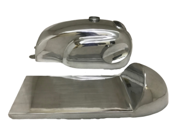 HONDA CB XS MANX STYLE ALUMINUM ALLOY CAFE RACER FUEL TANK + SEAT HOOD|Fit For