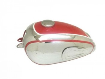 HOREX REGINA RED PAINTED CHROMED FUEL/PETROL TANK WITH CAP TAP Fit For