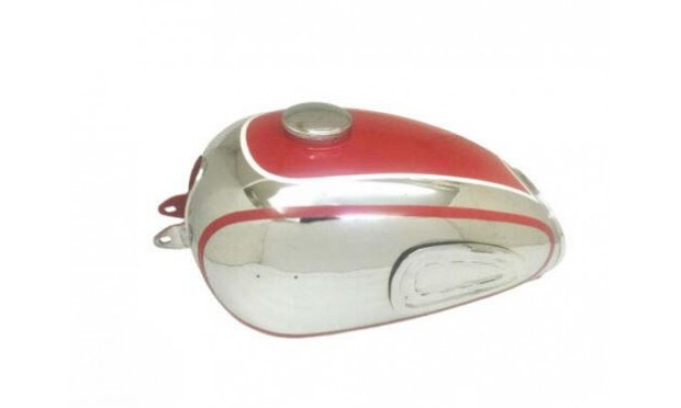 HOREX REGINA RED PAINTED CHROMED FUEL/PETROL TANK WITH CAP TAP|Fit For