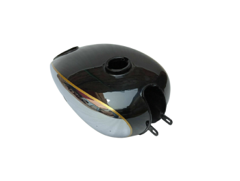 Horex Regina Chrome & Black Painted Steel Gas Fuel Tank (Small Version)(Fit For)