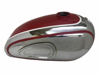 HOREX RESIDENT RED PAINTED CHROME PETROL TANK |Fit For