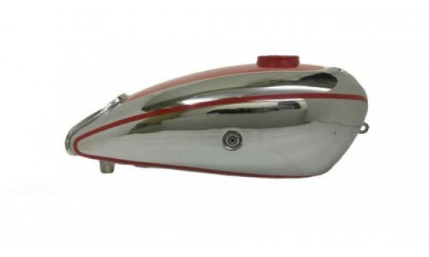 Horex Regina Chrome Red Paint Steel Fuel Tank (Small Version) |Fit For