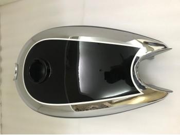 Horex Regina Chrome Black Paint Steel Fuel Tank (Small version)  Fit For