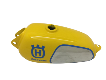 HUSQVARNA 1974 CR 250 WR 250 MAG REPRO YELLOW PAINTED ALUMINUM TANK |Fit For