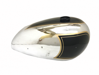 Matchless Ajs Twin G9 G12 Black Painted Chrome Gas Fuel Tank |Fit For