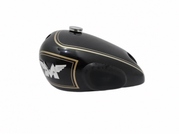 MATCHLESS (SINGLE CYLINDER) BLACK FUEL TANK +BADGE+CAP+KNEE PAD+TAP|Fit For