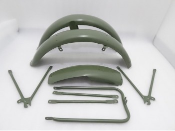 MATCHLESS G3L AJS 16M MILITARY MODEL GREEN PAINTED FENDER SET