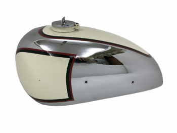 PANTHER M100 600cc CREAM PAINTED CHROME GAS FUEL TANK 1947-1953 WITH CAP|Fit For
