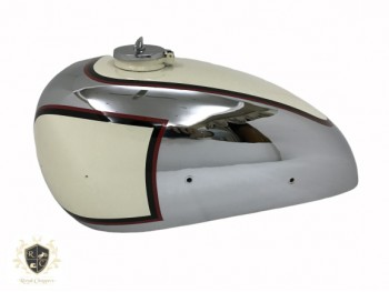 PANTHER M100 600cc CREAM PAINTED CHROME GAS FUEL TANK 1947-1953 WITH CAP NEW