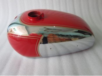 PANTHER M100 600cc RED PAINTED CHROME GAS FUEL TANK 1947-1953