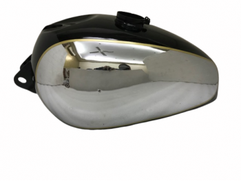PANTHER M100 M120 CHROME AND BLACK PAINTED GAS PETROL TANK |Fit For