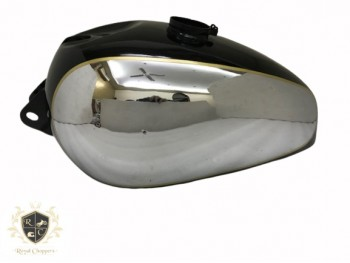 PANTHER M100 M120 CHROME AND BLACK PAINTED GAS PETROL TANK Brand New