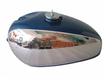 PANTHER M100 M120 CHROME AND BLUE PAINTED GAS FUEL TANK WITH FUEL CAP |Fit For