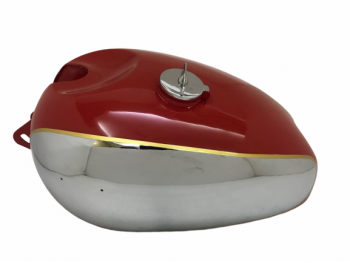 PANTHER M100 M120 CHROME AND RED PAINTED GAS FUEL TANK WITH FUEL CAP |Fit For
