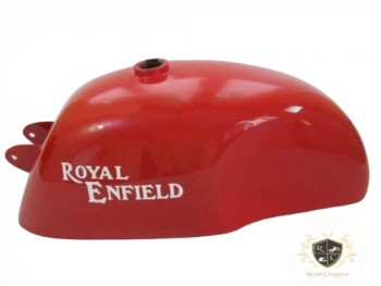 ROYAL ENFIELD CAFE RACER BRIGHT RED PAINTED GAS FUEL TANK, TRIUMPH (BRAND NEW)