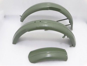 TRIUMPH 3HW 350CC GREEN PAINTED FRONT & REAR FENDER SET|Fit For