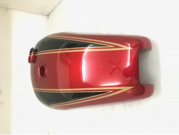 TRIUMPH T140  RED & BLACK PAINTED STEEL FUEL PETROL TANK+BADGES |Fit For