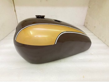 TRIUMPH T140 BROWN & GOLDEN PAINTED OIF FUEL TANK + BADGES|Fit For