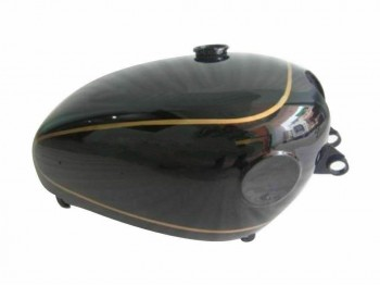 VELOCETTE VENOM BLACK PAINTED GAS FUEL PETROL TANK (WITH SIDE BADGES |Fit For