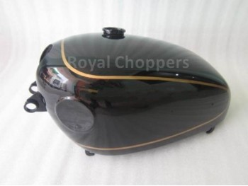 VELOCETTE VENOM BLACK PAINTED GAS FUEL PETROL TANK (WITH SIDE BADGES