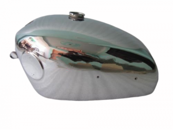 VELOCETTE VENOM CHROME PLATED FUEL PETROL TANK WITH SIDE BADGES MOUNT |Fit For