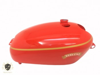 VINCENT HRD RED PAINTED GAS FUEL PETROL TANK