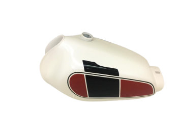 Yamaha Xt 250 3Y3 4Y1 Red & White Painted Petrol Tank 1980-1990|Fit For)