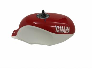 YAMAHA YSR 50 80 YSR50 YSR80 1989 ALUMINUM WHITE & RED PAINT TANK WITH CAP &TAP Fit For