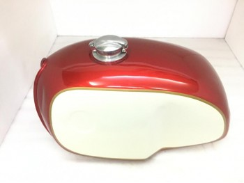 BMW R100 RT RS R90 R80 R75 CREAM & CHERRY PAINTED STEEL TANK & CAP Fit For