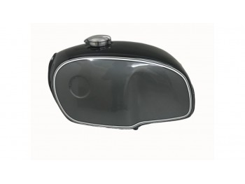 BMW R100 RT RS R90 R80 R75 BLACK & SILVER PAINTED ALUMINUM PETROL TANK |Fit For