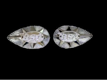 BSA A50 A65 B44 B25 FUEL PETROL TANK CHROME BADGES |Fit For