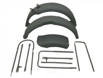 BSA M20 FRONT AND REAR MUDGUARDS WITH COMPLETE STAY KIT|Fit For