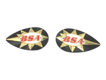 BSA A50 A65 B44 B25 TANK PAINTED BADGES High Quality (Die Casting) |Fit For