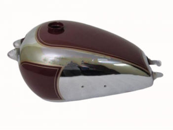 BSA 1950 A7 PLUNGER MODEL CHROME AND PAINTED FUEL GAS FUEL PETROL TANK |Fit For