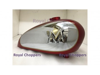 NORTON CJS MATCHLESS G12 CSR COMPETITION RED PAINTED GAS FUEL TANK With Badge