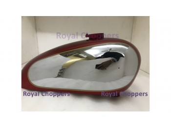NORTON AJS MATCHLESS G12 CSR COMPETITION RED PAINTED GAS FUEL TANK + FREE CAP