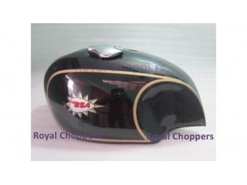 BSA A65 SPITFIRE 4 GALLON BLACK PAINTED GAS FUEL PETROL TANK WITH CAP + TAP