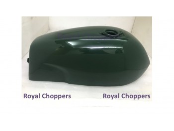 NORTON COMMANDO FASTBACK GREEN PAINTED ALUMINUM FUEL PETROL TANK