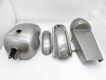 ROYAL ENFIELD CAFE RACER BODY PARTS (TANK + SEAT HOOD + FENDER