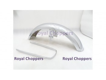 NORTON COMMANDO FRONT CHROME MUDGUARD + STAY 750 850 ROADSTER,INTERSTATE