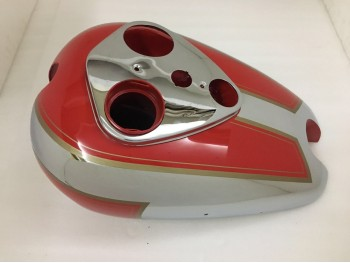 ARIEL SQUARE FOUR RED PAINTED CHROME GAS FUEL PETROL TANK (Brand New)