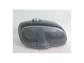 BMW R100 RT RS R90 R80 R75 BLACK & SILVER PAINTED ALUMINUM PETROL TANK